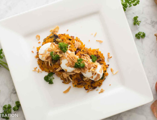 Snaksterbation Sweet Potato Latkes